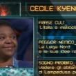 Cecile Kyenge a La Gabbia, verso scimmia dal pubblico VIDEO (3)