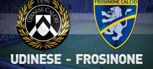 Frosinone-Udinese streaming-diretta tv, dove vedere Serie A