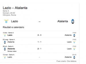 Lazio-Atalanta, streaming-diretta tv: dove vedere Serie A