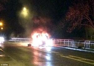Lamborghini in fiamme, proprietario arrestato 2