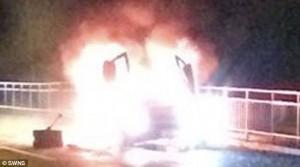 YOUTUBE Lamborghini in fiamme, proprietario arrestato
