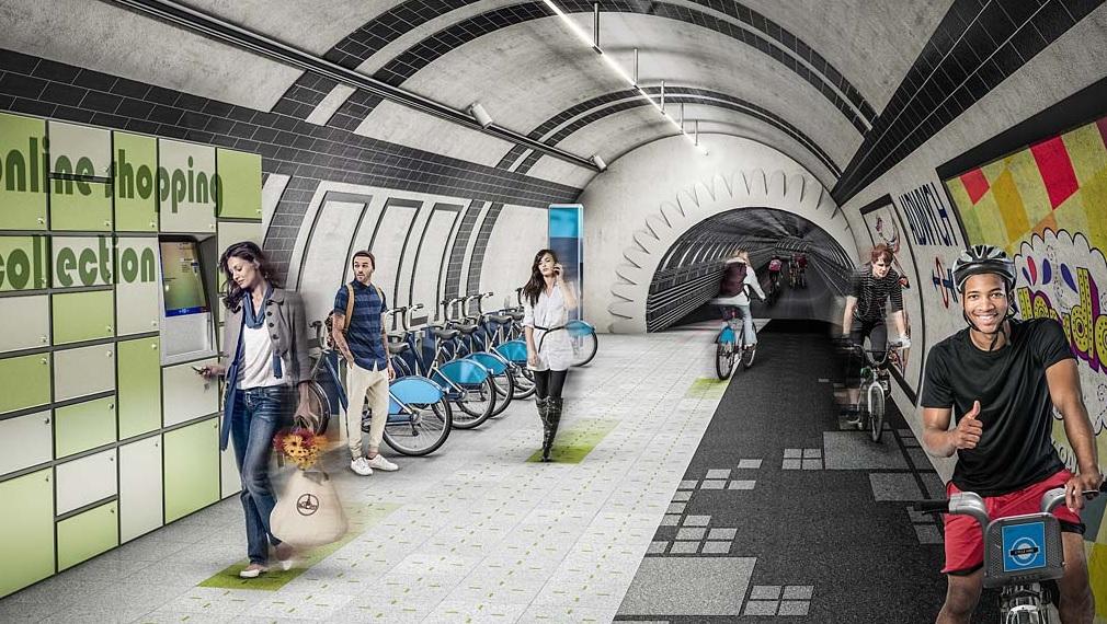 Londra, piste ciclabili i tunnel in disuso del Tube2