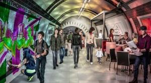 Guarda la versione ingrandita di Londra, piste ciclabili nei tunnel in disuso del Tube FOTO