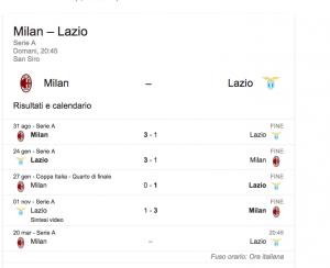 Milan-Lazio streaming-diretta tv, dove vedere Serie A
