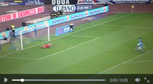 Napoli-Chievo, il gol di Rigoni