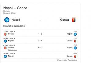 Napoli-Genoa streaming-diretta tv, dove vedere Serie A
