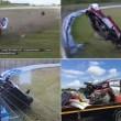 Pilota si schianta contro barriere a 200 kmh, salvo3