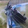 Pilota si schianta contro barriere a 200 kmh, salvo7