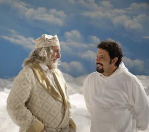 Enrico Brignano e Riccardo Garrone nello spot della Lavazza