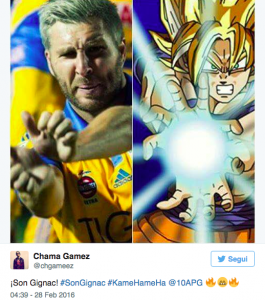 Gignac, video esultanza alla Dragon Ball dopo gol