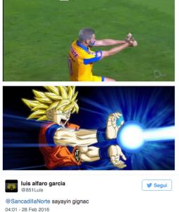 Guarda la versione ingrandita di Gignac, video esultanza alla Dragon Ball dopo gol