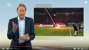 YouTube, razzo lanciato da curva a panchina in Germania