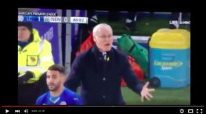 Video YouTube, Claudio Ranieri scatenato in panchina