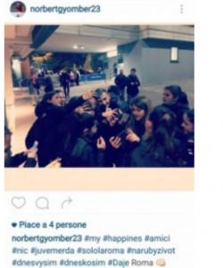 "Gyomber su Instagram: ""Juve m...a"". Poi lo cancella. FOTO"