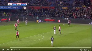 Guarda la versione ingrandita di YouTube, Johan Cruyff: 14esimo minuto Feyenoord-Sparta si...