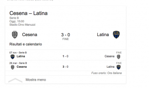Serie B, Cesena-Latina 3-0: Ciano e Ragusa gol e show