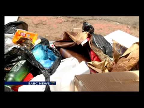 Sciopero netturbini, Johannesburg piena di rifiuti3