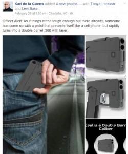 Guarda la versione ingrandita di Smartphone che si trasforma in pistola FOTO