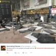 Bruxelles, sala check in distrutta dopo le bombe10