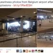 Bruxelles, sala check in distrutta dopo le bombe4