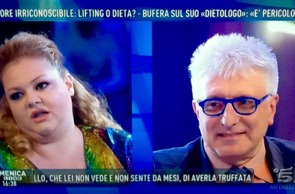 Alberico Lemme a Domenica Live: polemiche sulla sua dieta3