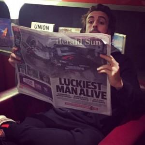 """Fernando Alonso su Instagram: """"Grazie, ora prendo l'aereo"""""""
