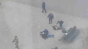 Guarda la versione ingrandita di L'arresto di due sospettati a Bruxelles