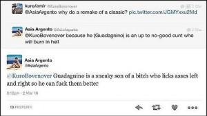 Asia Argento, insulti a Luca Guadagnino per... Suspiria FOTO