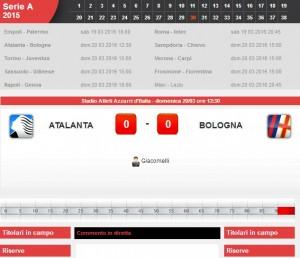 Atalanta-Bologna: diretta live su Blitz. Formazioni e info