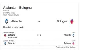 Atalanta-Bologna streaming-diretta tv, dove vedere Serie A