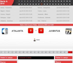 Guarda la versione ingrandita di Atalanta-Juventus diretta live su Blitz 28a giornata serie A