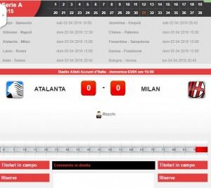Atalanta-Milan: diretta live Serie A. Formazioni ed info