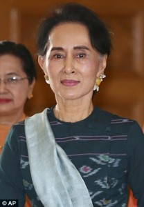 Guarda la versione ingrandita di San Suu Kyi figuraccia razzista: Mi intervista musulmana?