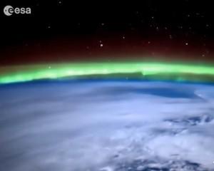 VIDEO YOUTUBE Aurora Boreale vista dallo spazio