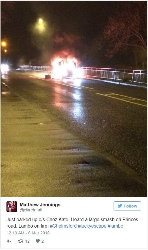 Lamborghini in fiamme, proprietario arrestato