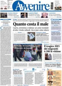 Guarda la versione ingrandita di Migranti, Giulio Regeni: le prime pagine dei giornali