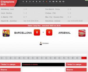 Barcellona-Arsenal: diretta live ottavi Champions su Blitz con Sportal