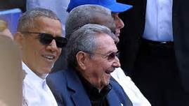 Obama e Raoul Castro alla partita di baseball