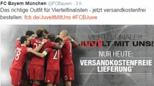 "Bayern provoca ancora Juventus su Twitter: ""Juvelt mit uns"""