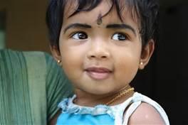 Una bambina indiana