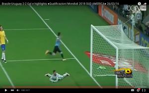 YouTube, Brasile-Uruguay 2-2