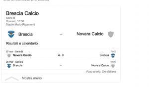 Guarda la versione ingrandita di Brescia-Novara streaming-diretta tv, dove vedere Serie B