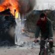 YOUTUBE Calais: caos Giungla, scontri e riprende sgombero6