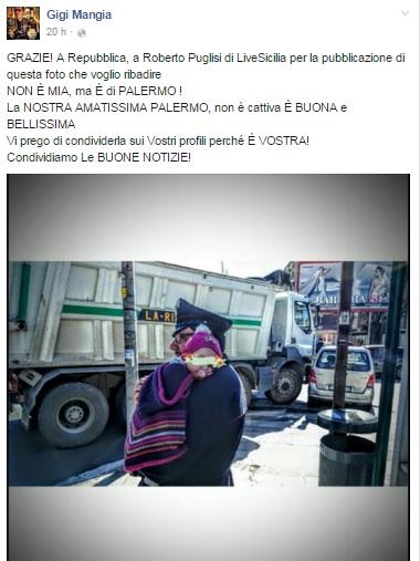 Carabiniere coccola bimba dopo incidente, foto diventa virale 03