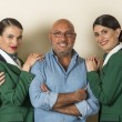 Alitalia, hostess con chignon. Nuovo look by Carminati05
