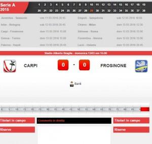 Carpi-Frosinone, diretta live su Blitz