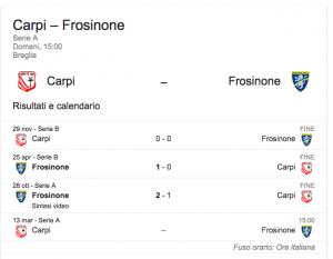 Carpi-Frosinone, streaming-diretta tv: dove vedere Serie A
