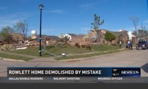 Guarda la versione ingrandita di Casa demolita per…errore di Google Maps VIDEO FOTO