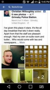 Guarda la versione ingrandita di Passa notte in cella: selfie e recensione stile TripAdvisor