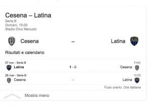 Cesena-Latina streaming-diretta tv, dove vedere Serie B